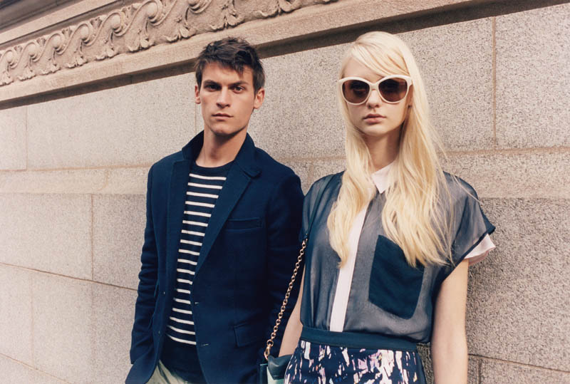 ClubMonaco7 Nastya Kusakina Hits the New York City Streets for Club Monacos Spring 2013 Campaign