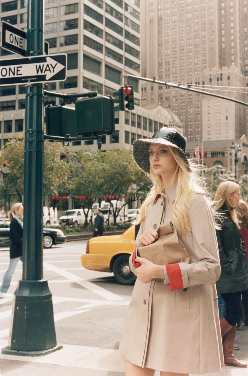 Nastya Kusakina Hits the New York City Streets for Club Monaco's Spring 2013 Campaign