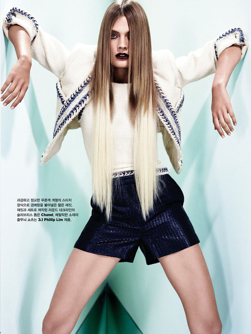 ConstanceW4 Constance Jablonski Stars in W Koreas December 2012 Cover Story by Catherine Servel