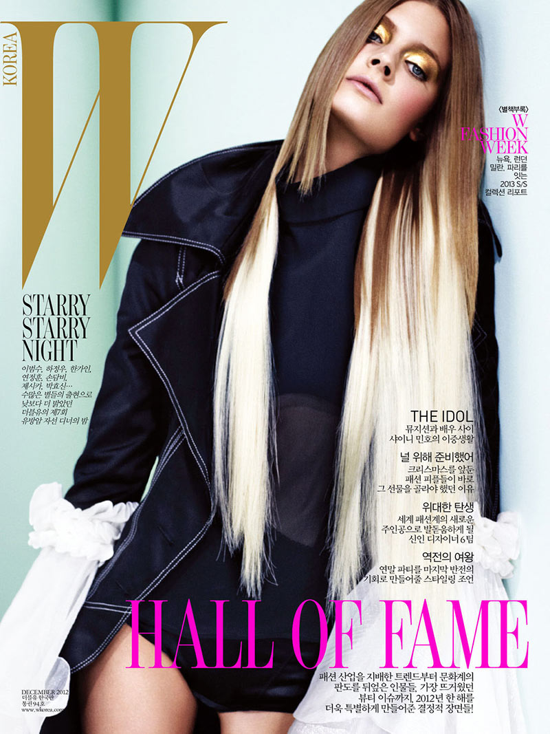 ConstanceW9 Constance Jablonski Stars in W Koreas December 2012 Cover Story by Catherine Servel