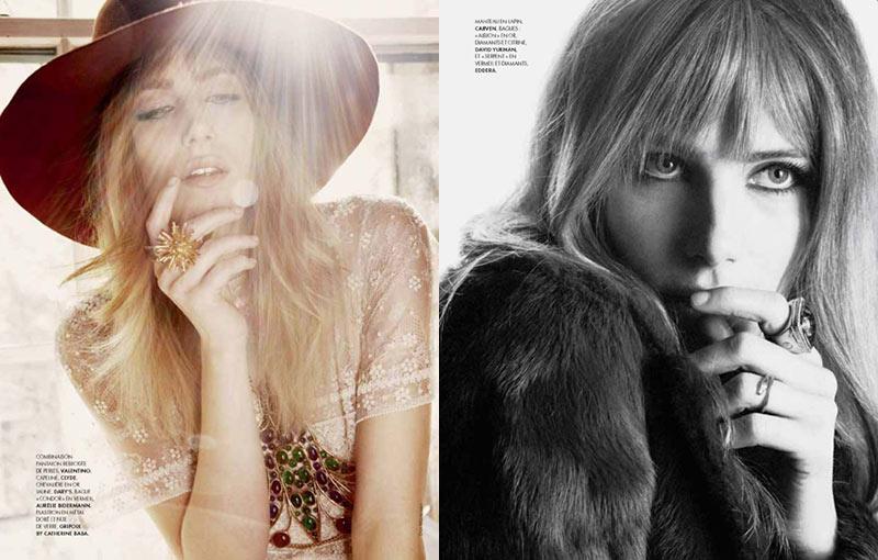 Dree Hemingway is a Bohemian Beauty for Elle France
