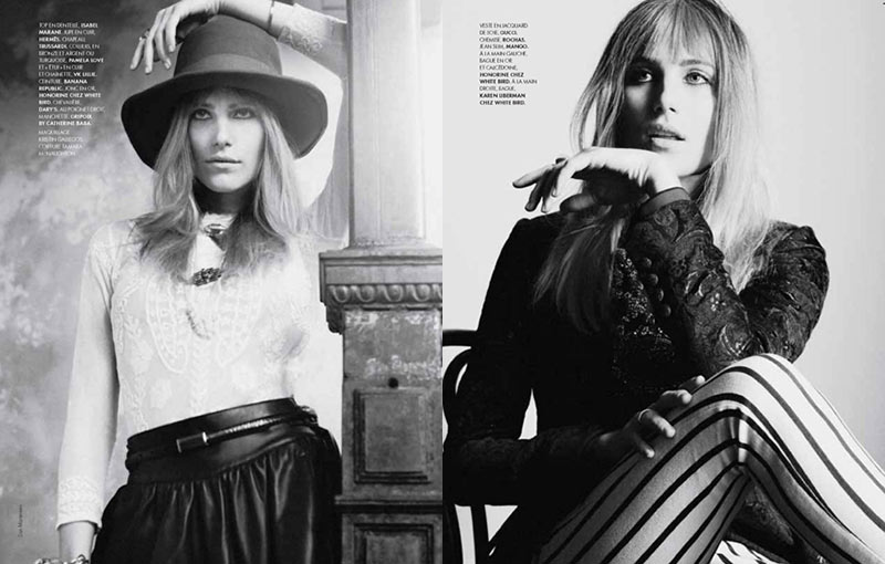 DreeElle5 Dree Hemingway is a Bohemian Beauty for Elle France
