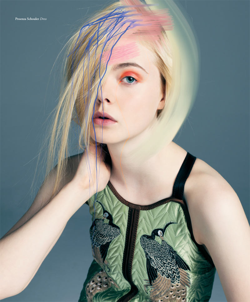 ElleBullet1 Elle Fanning Gets Surreal for Bullett Magazines Winter 2012 Cover Shoot