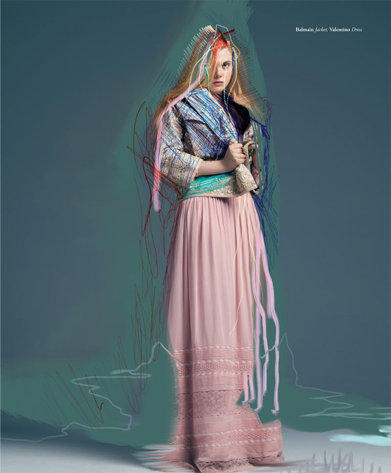 ElleBullet3 Elle Fanning Gets Surreal for Bullett Magazines Winter 2012 Cover Shoot