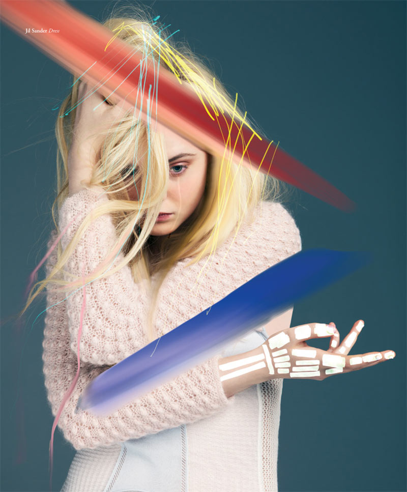 ElleBullet4 Elle Fanning Gets Surreal for Bullett Magazines Winter 2012 Cover Shoot
