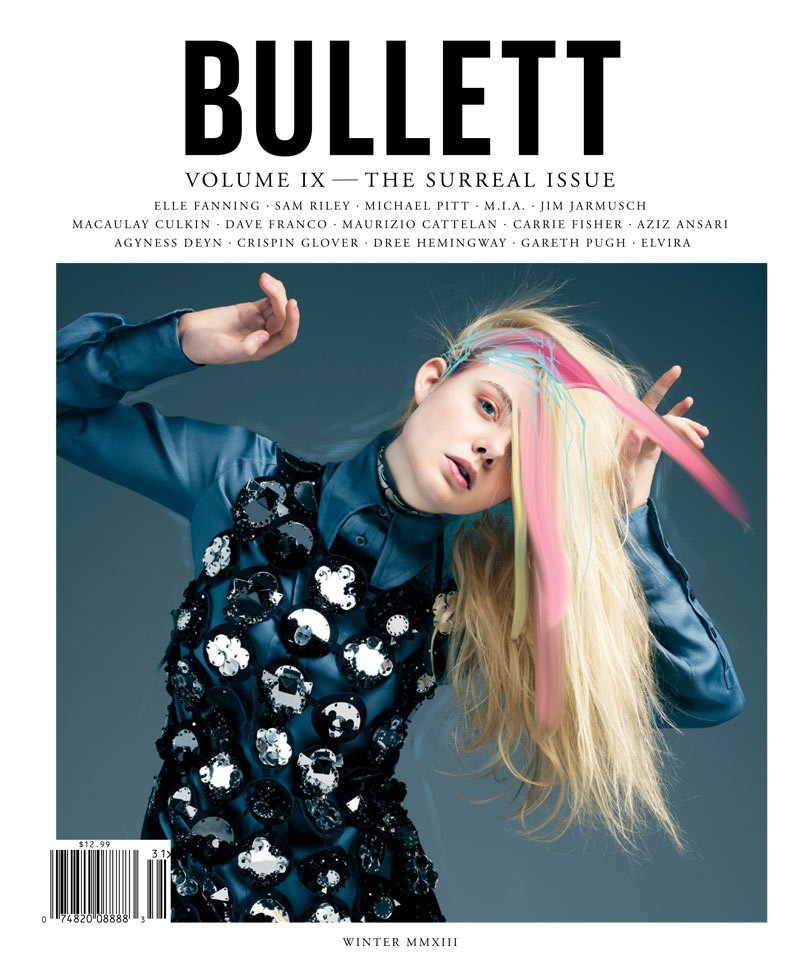 ElleBullet9 Elle Fanning Gets Surreal for Bullett Magazines Winter 2012 Cover Shoot