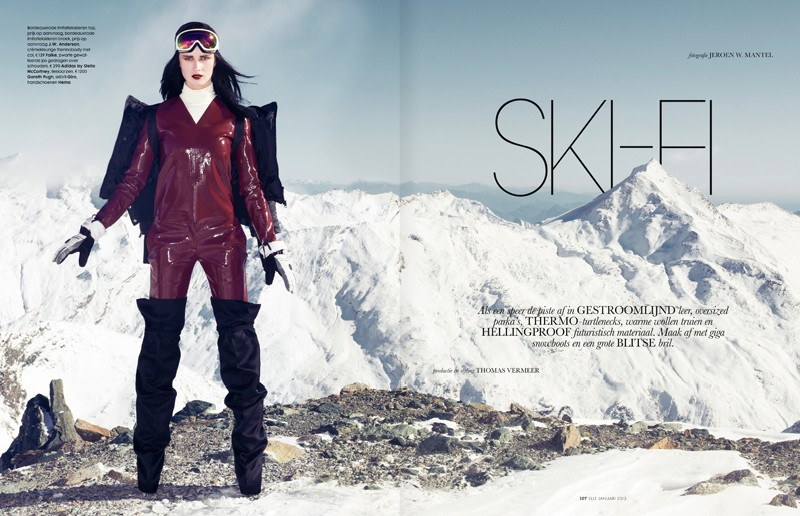 ElleSki1 Rianne van Rompaey Hits the Slopes for Elle Netherlands January Issue