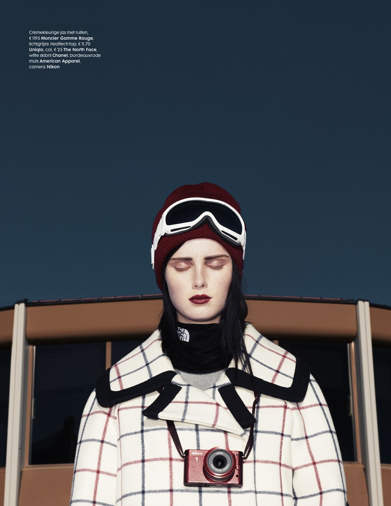 ElleSki2 Rianne van Rompaey Hits the Slopes for Elle Netherlands January Issue
