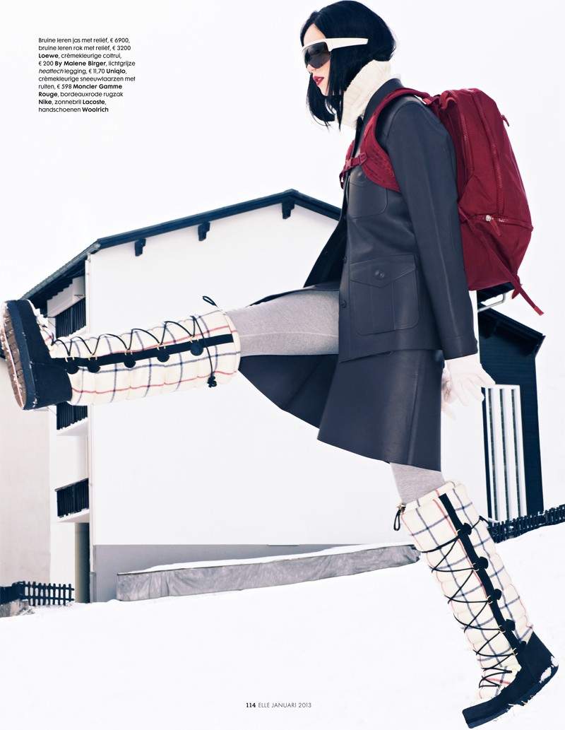 Rianne van Rompaey Hits the Slopes for Elle Netherlands' January Issue
