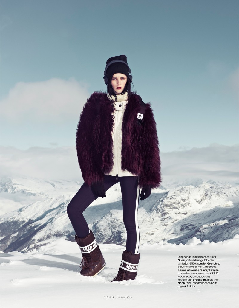 ElleSki5 Rianne van Rompaey Hits the Slopes for Elle Netherlands January Issue