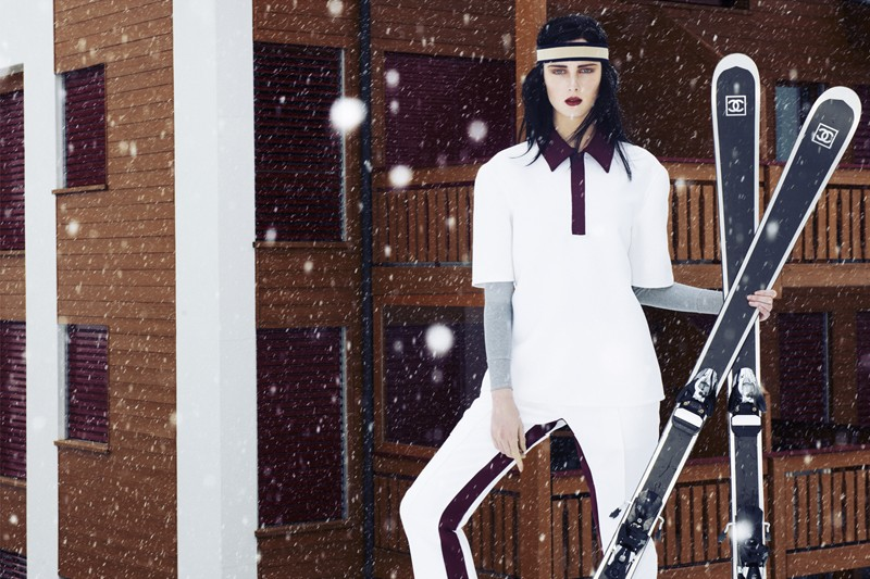 ElleSki6 Rianne van Rompaey Hits the Slopes for Elle Netherlands January Issue