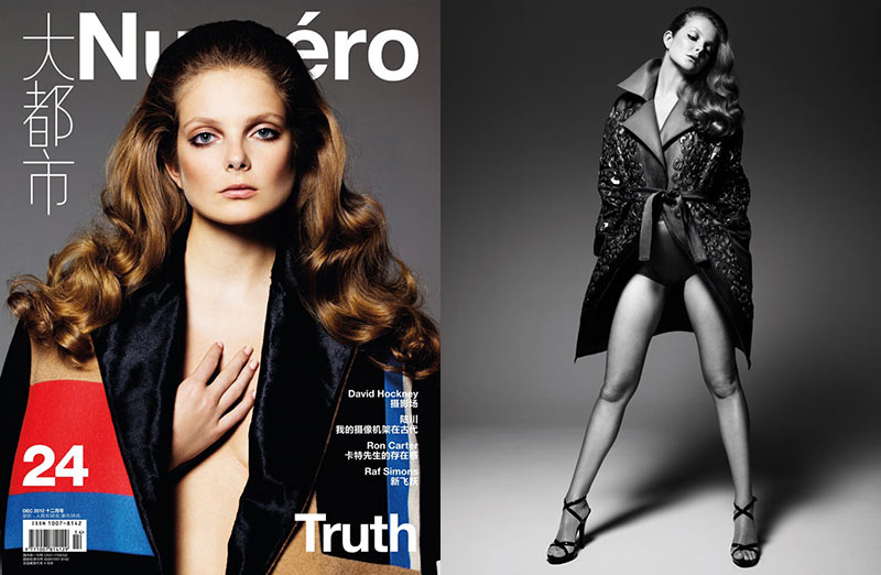 EnikoChina Eniko Mihalik Charms in Numéro Chinas December Cover Shoot by Gianluca Fontana