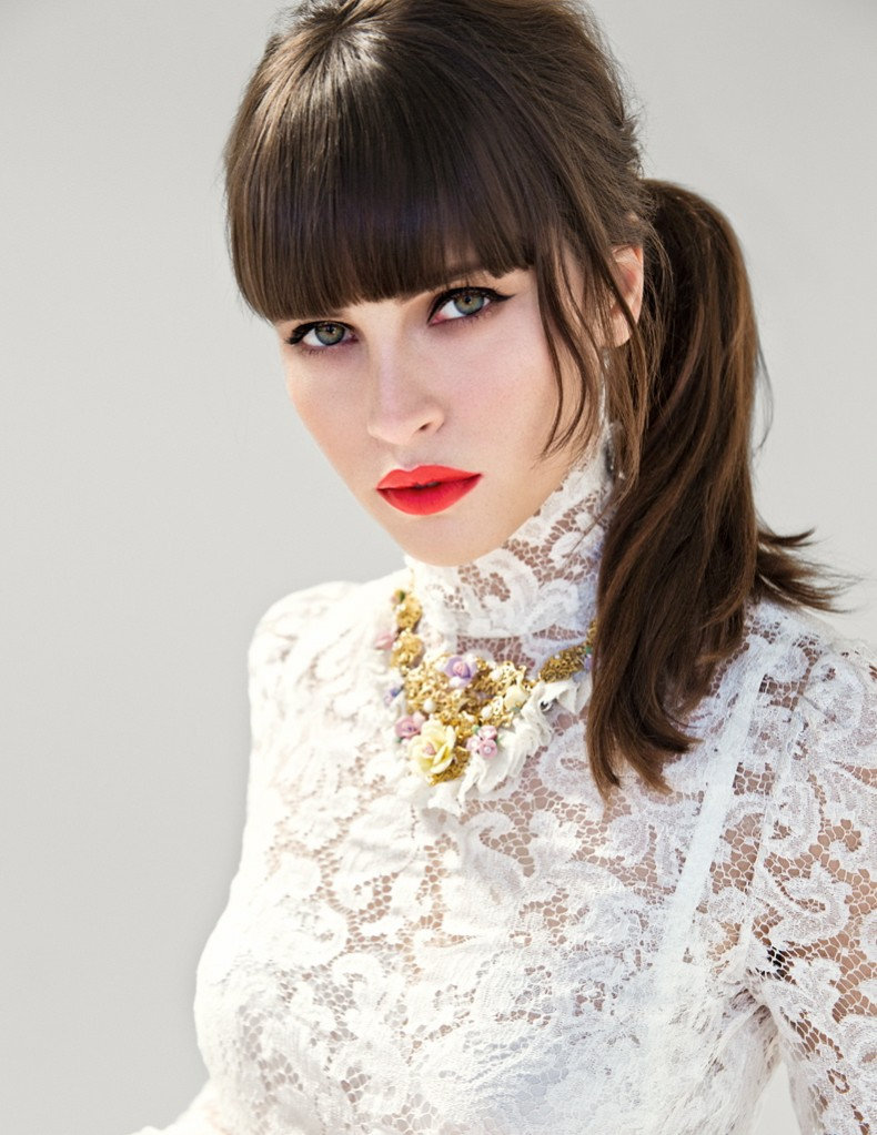 FelicityJones1 Felicity Jones Dons Dolce & Gabbana for Yo Dona December Cover Shoot by Iakovos Kalaitzakis