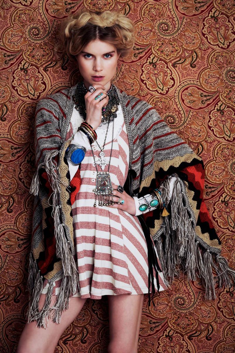 Elsa Sylvan Has Wanderlust for Free People's December Lookbook