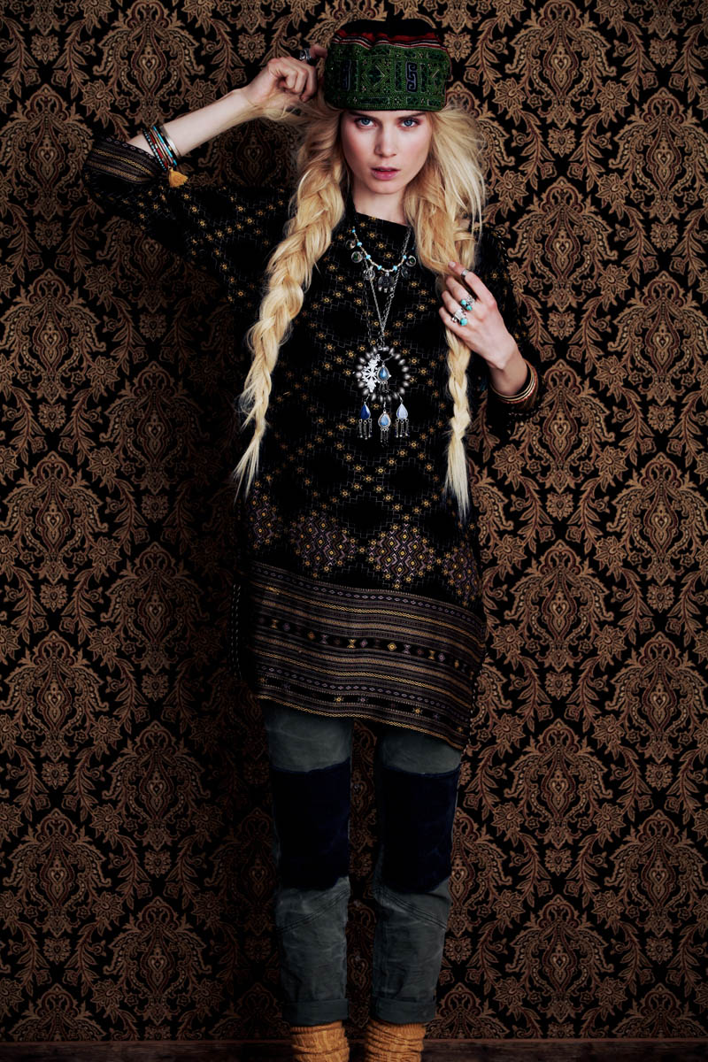 Elsa Sylvan Dons Americana Style For Free People Lookbook: Elsa Sylvan Has Wanderlust For Free People's December