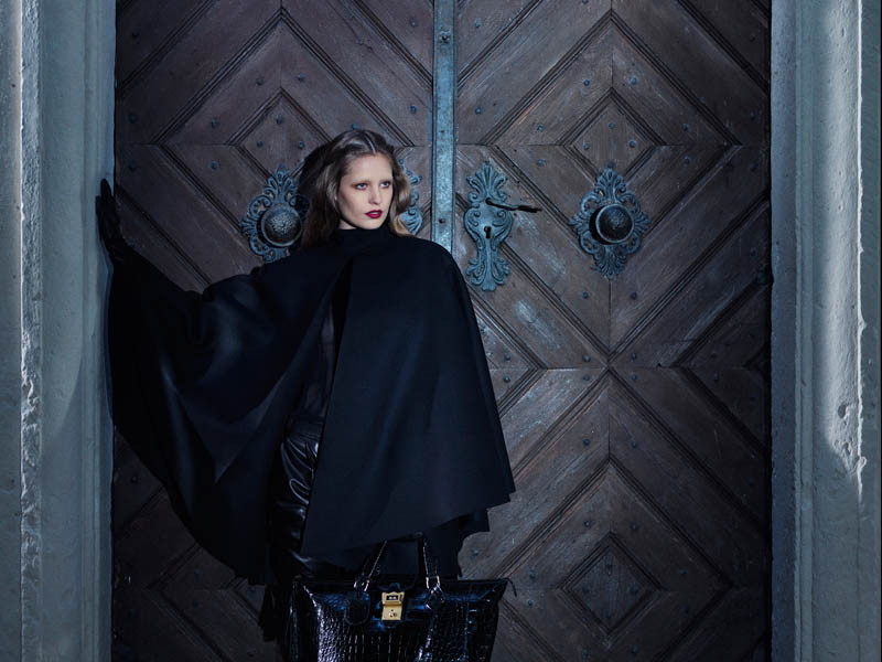 Gucci FallWinter13 01 Karmen Pedaru and Nadja Bender Are Gothic Chic for Gucci Style Fall/Winter 2012 by Benjamin Grillon