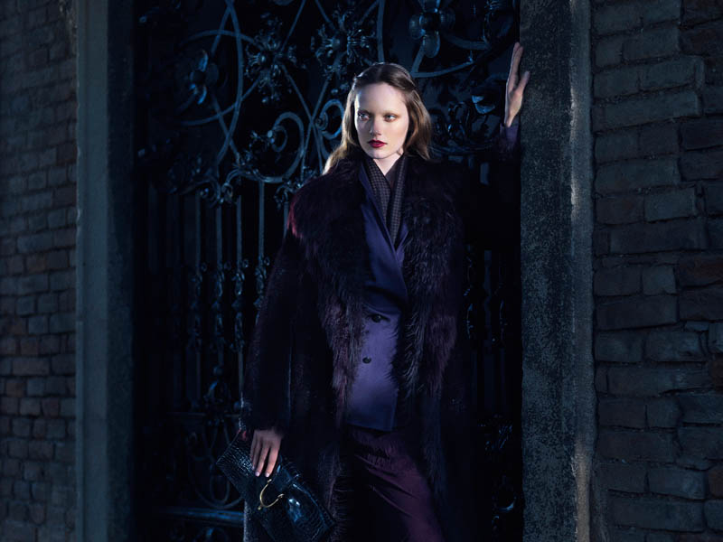 Gucci FallWinter13 04 Karmen Pedaru and Nadja Bender Are Gothic Chic for Gucci Style Fall/Winter 2012 by Benjamin Grillon