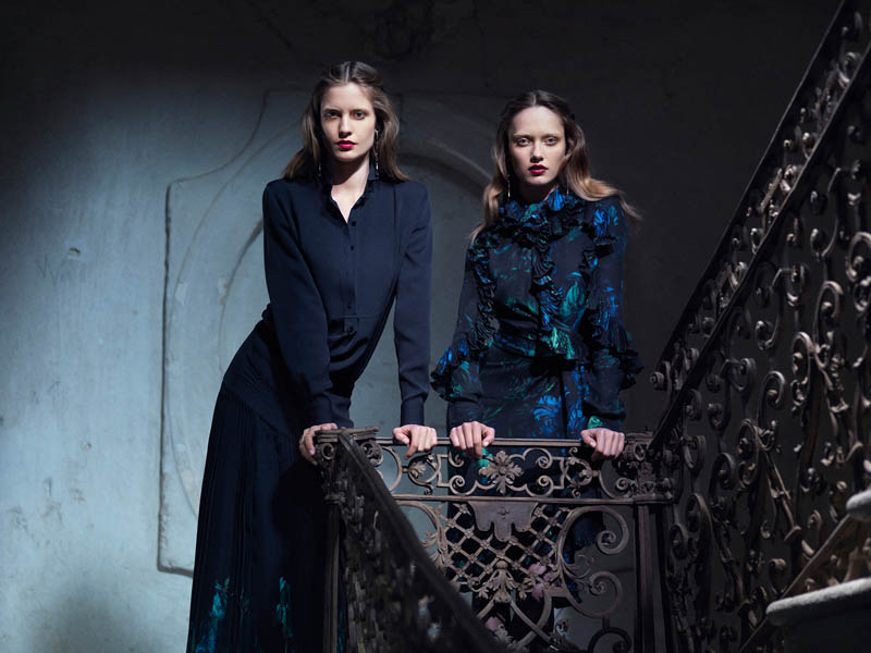 Gucci FallWinter13 06 Karmen Pedaru and Nadja Bender Are Gothic Chic for Gucci Style Fall/Winter 2012 by Benjamin Grillon
