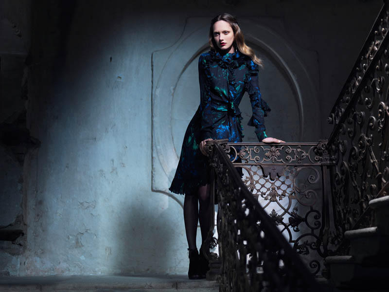 Gucci FallWinter13 08 Karmen Pedaru and Nadja Bender Are Gothic Chic for Gucci Style Fall/Winter 2012 by Benjamin Grillon