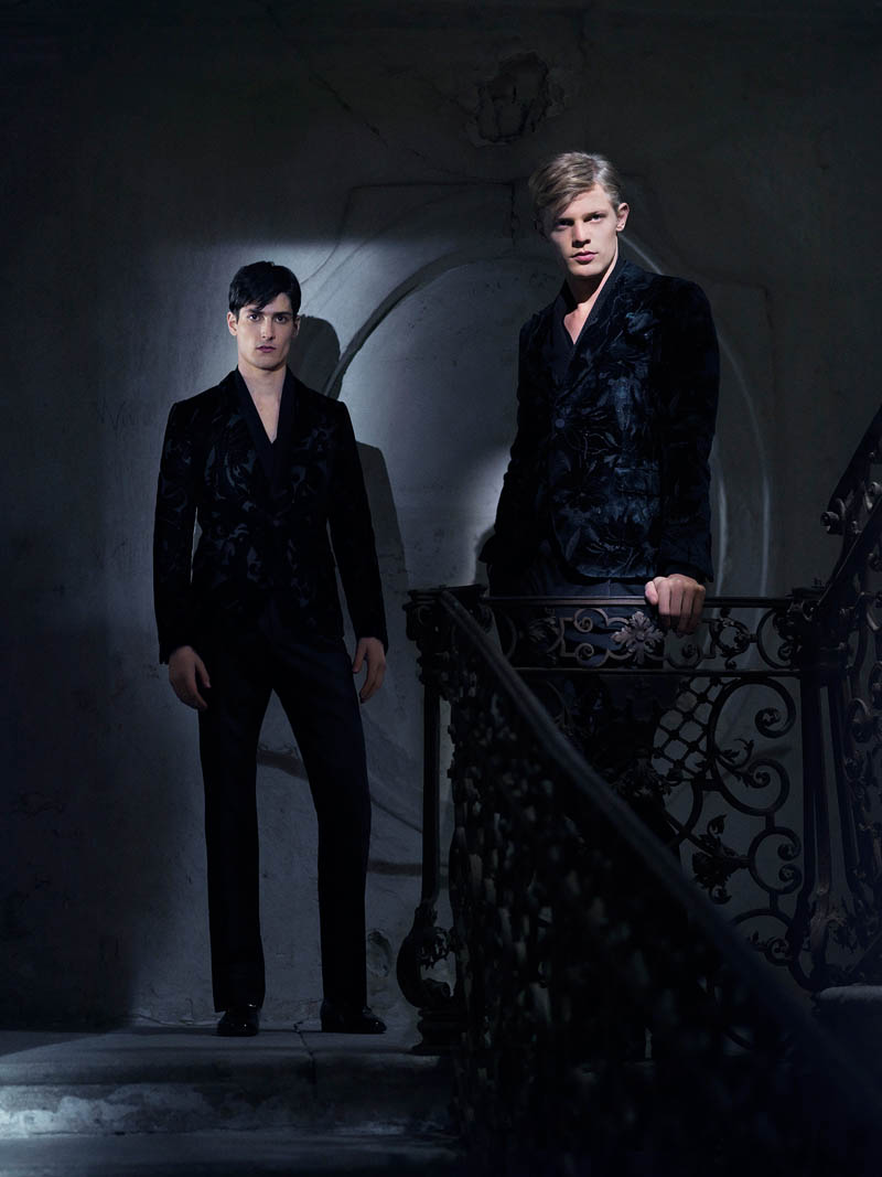Gucci FallWinter13 09 Karmen Pedaru and Nadja Bender Are Gothic Chic for Gucci Style Fall/Winter 2012 by Benjamin Grillon