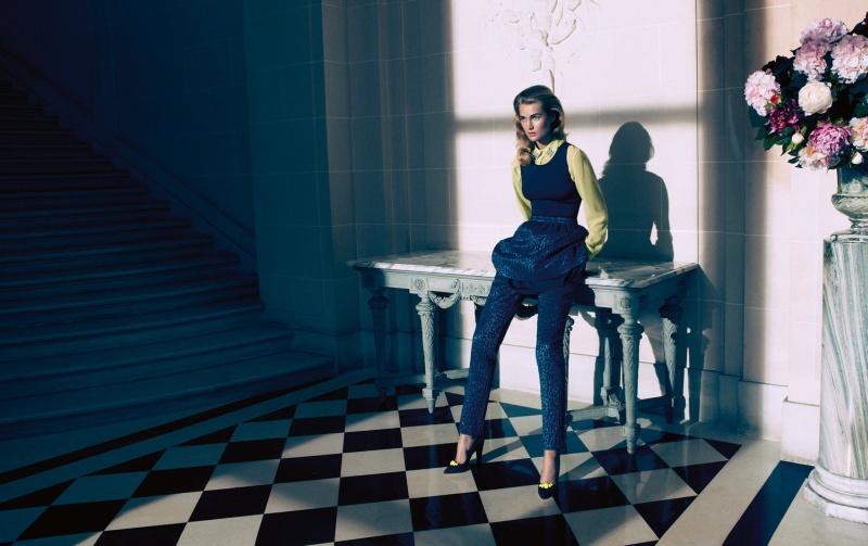HMArkans1 Saskia de Brauw, Toni Garrn and Magdalena Frackowiak Star in H&M Magazine Winter 2012 by Camilla Akrans