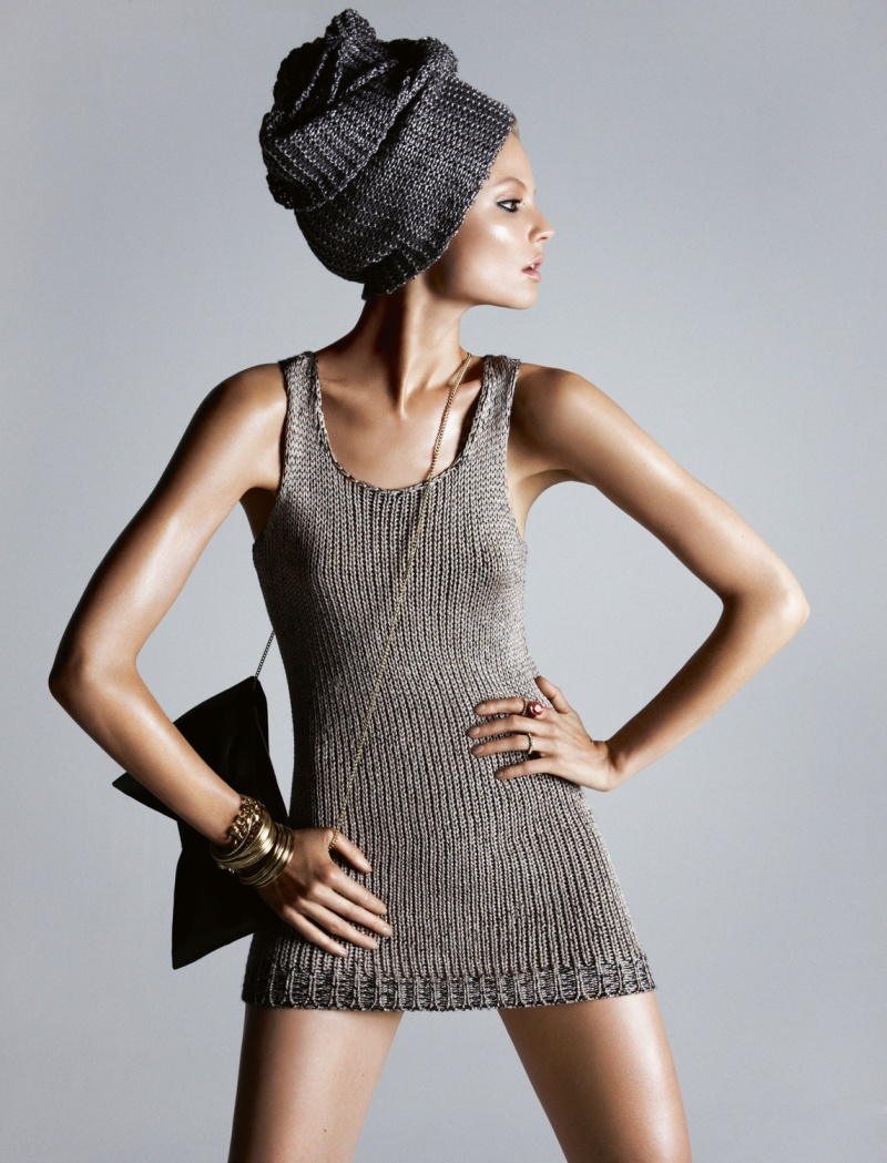 HMArkans14 Saskia de Brauw, Toni Garrn and Magdalena Frackowiak Star in H&M Magazine Winter 2012 by Camilla Akrans