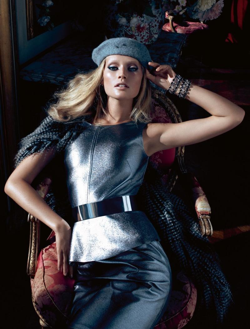 HMArkans15 Saskia de Brauw, Toni Garrn and Magdalena Frackowiak Star in H&M Magazine Winter 2012 by Camilla Akrans