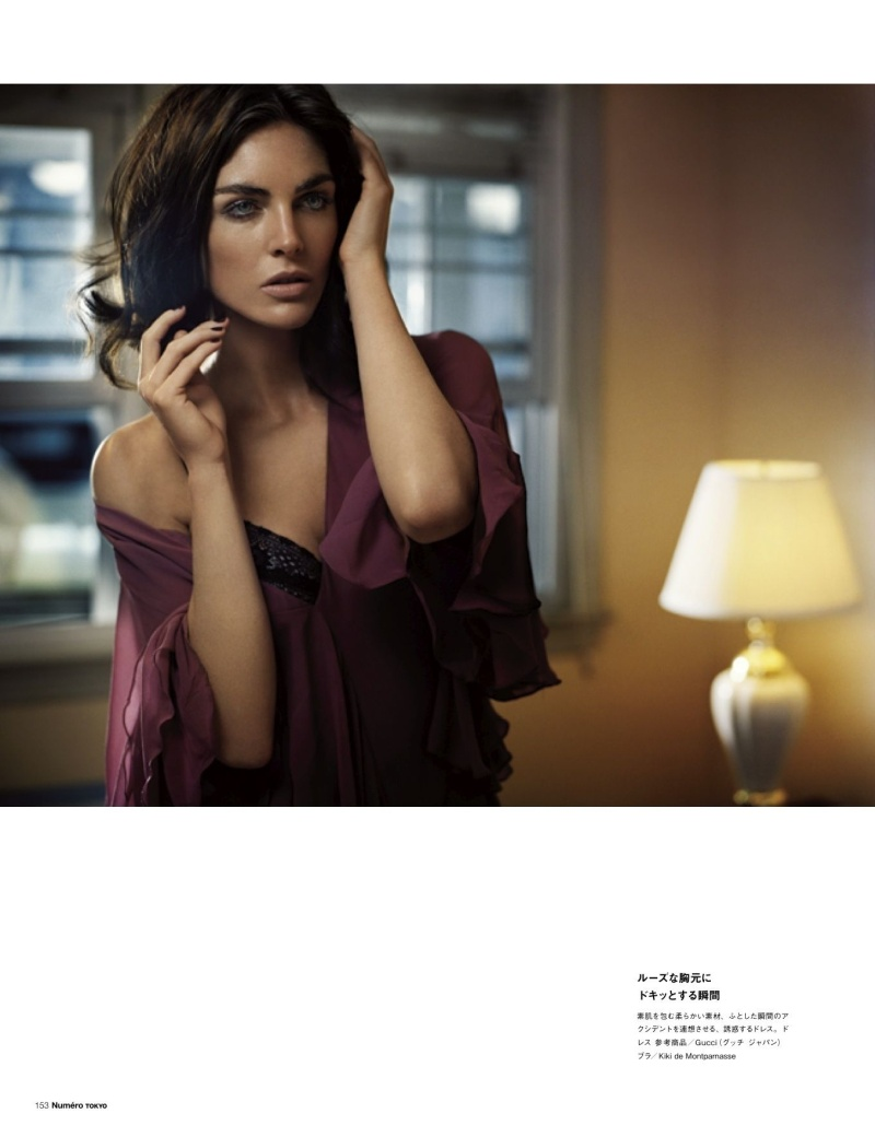 Hilary Rhoda Poses for Vincent Peters in Numéro Tokyo's January/February Issue