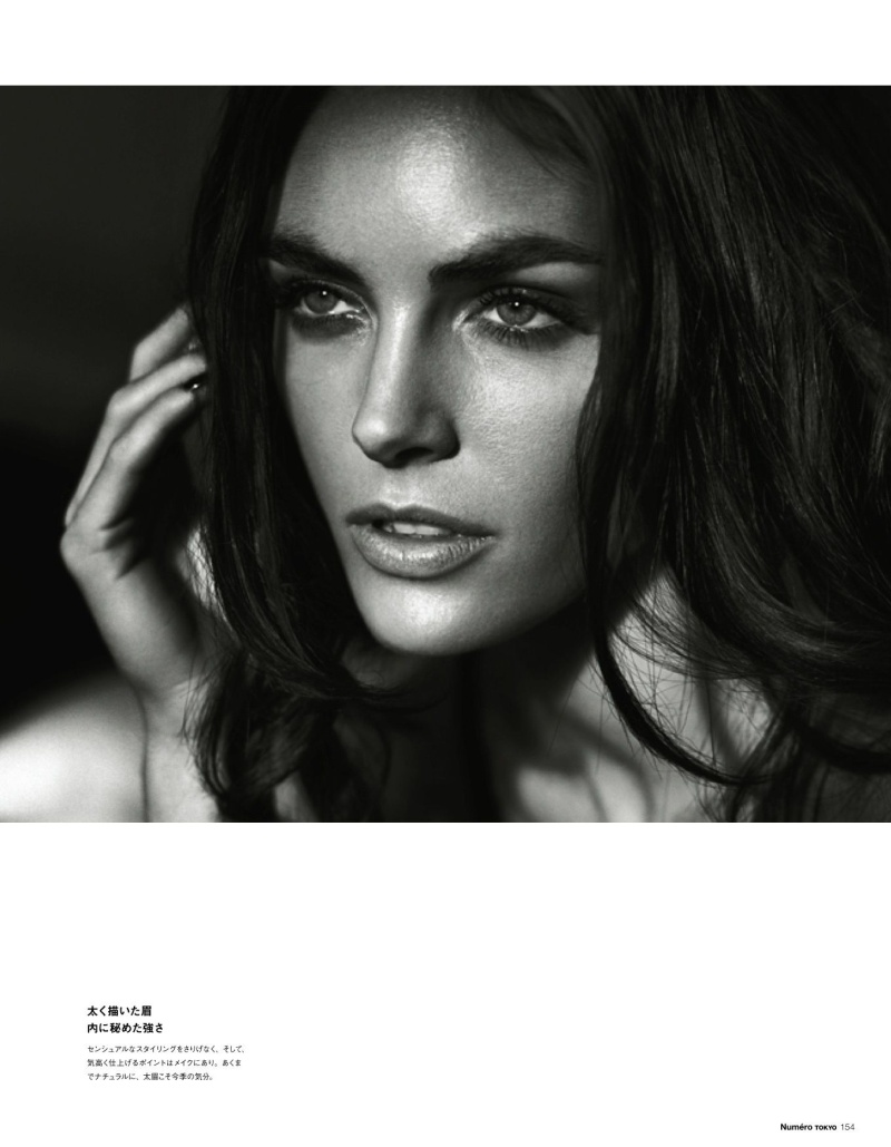 HilaryNumero5 Hilary Rhoda Poses for Vincent Peters in Numéro Tokyos January/February Issue