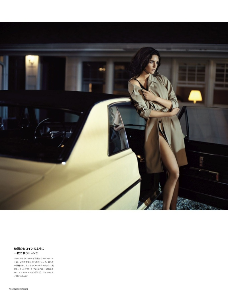 HilaryNumero6 Hilary Rhoda Poses for Vincent Peters in Numéro Tokyos January/February Issue