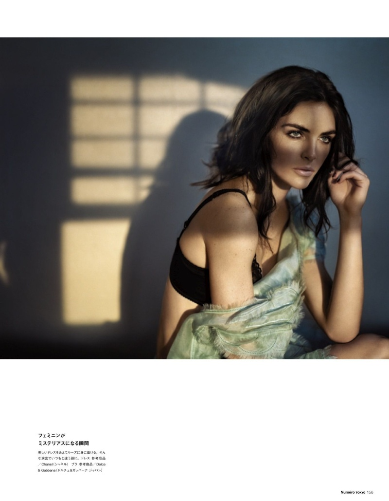 HilaryNumero7 Hilary Rhoda Poses for Vincent Peters in Numéro Tokyos January/February Issue