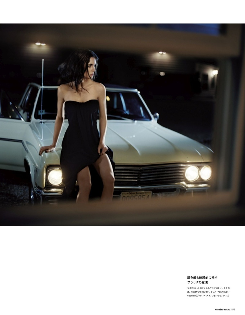 HilaryNumero9 Hilary Rhoda Poses for Vincent Peters in Numéro Tokyos January/February Issue