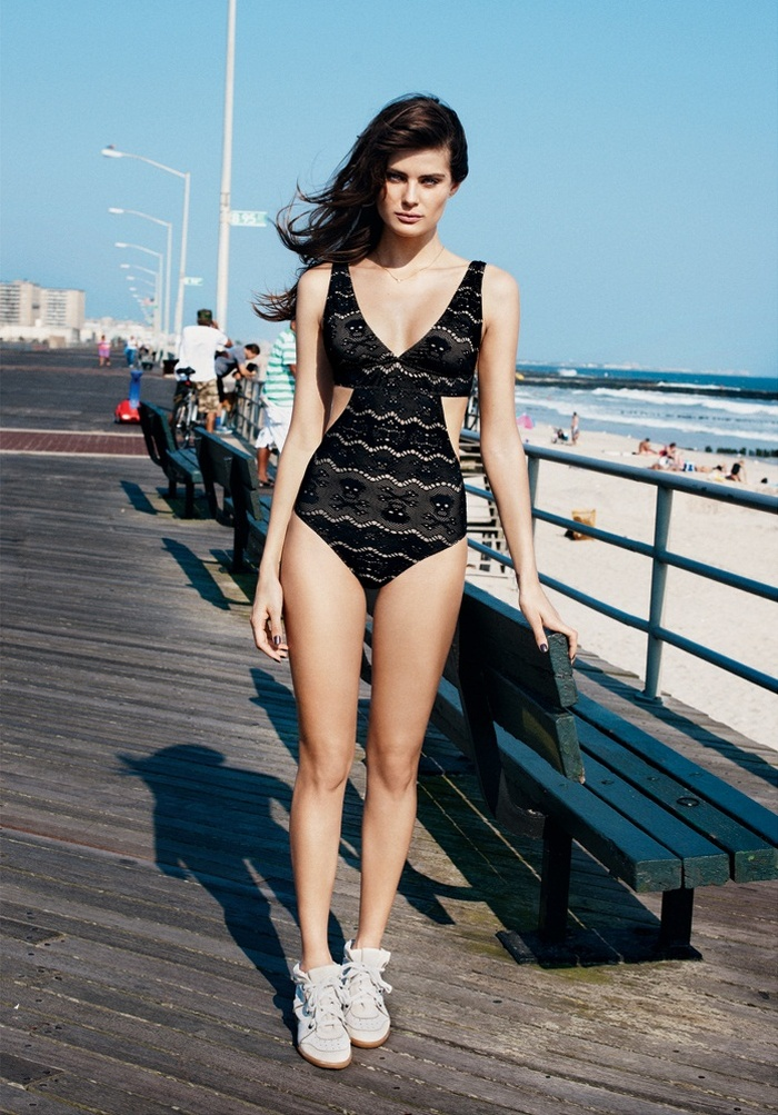 IsabeliResort4 Isabeli Fontana Models Resort Swimwear for Bergdorf Goodman