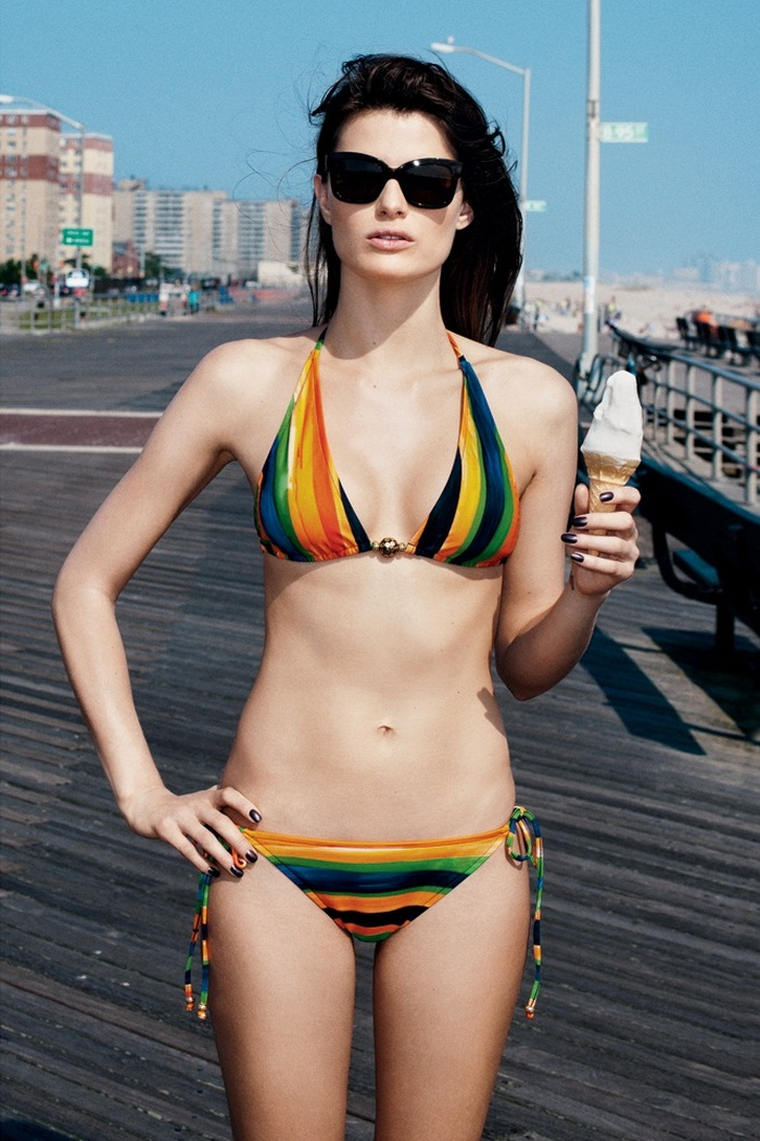 IsabeliResort9 Isabeli Fontana Models Resort Swimwear for Bergdorf Goodman