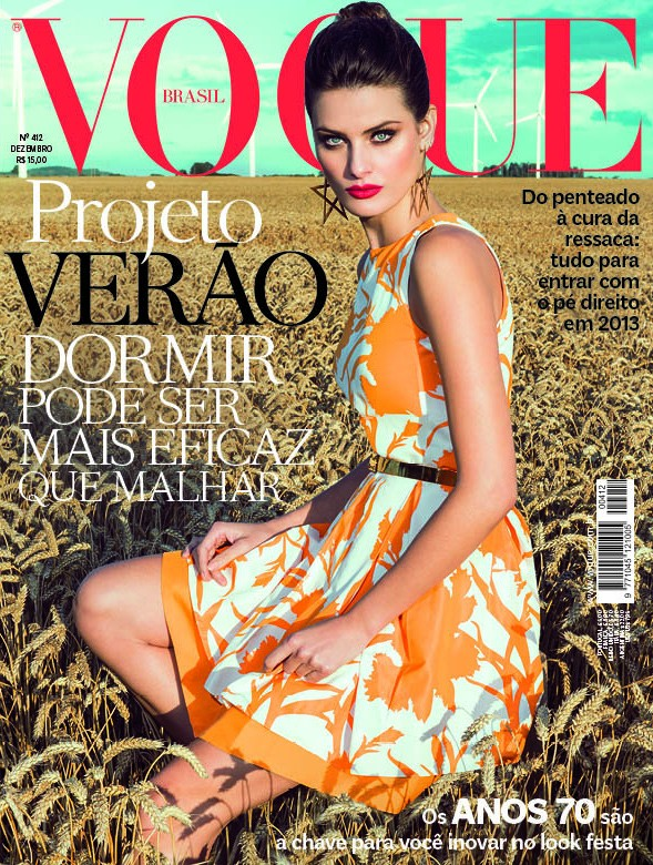 IsabeliVogue Isabeli Fontana Wows in Colorful Fashion for Vogue Brazils December Cover Shoot