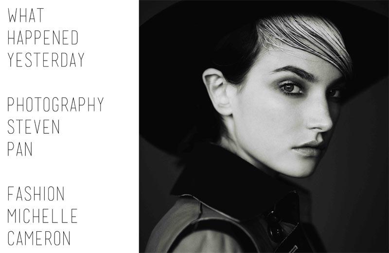 JacquelynExit1 Jacquelyn Jablonski Dons Sleek Style for Exit Magazine F/W 2012