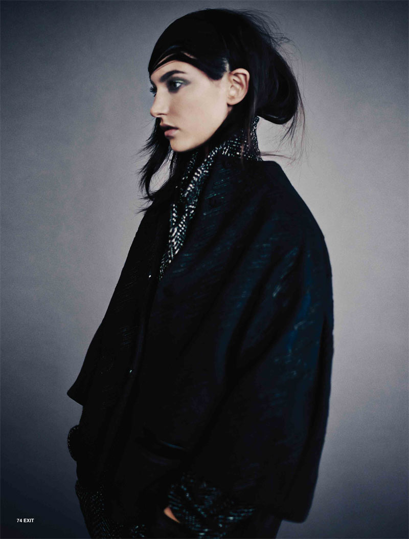 JacquelynExit2 Jacquelyn Jablonski Dons Sleek Style for Exit Magazine F/W 2012