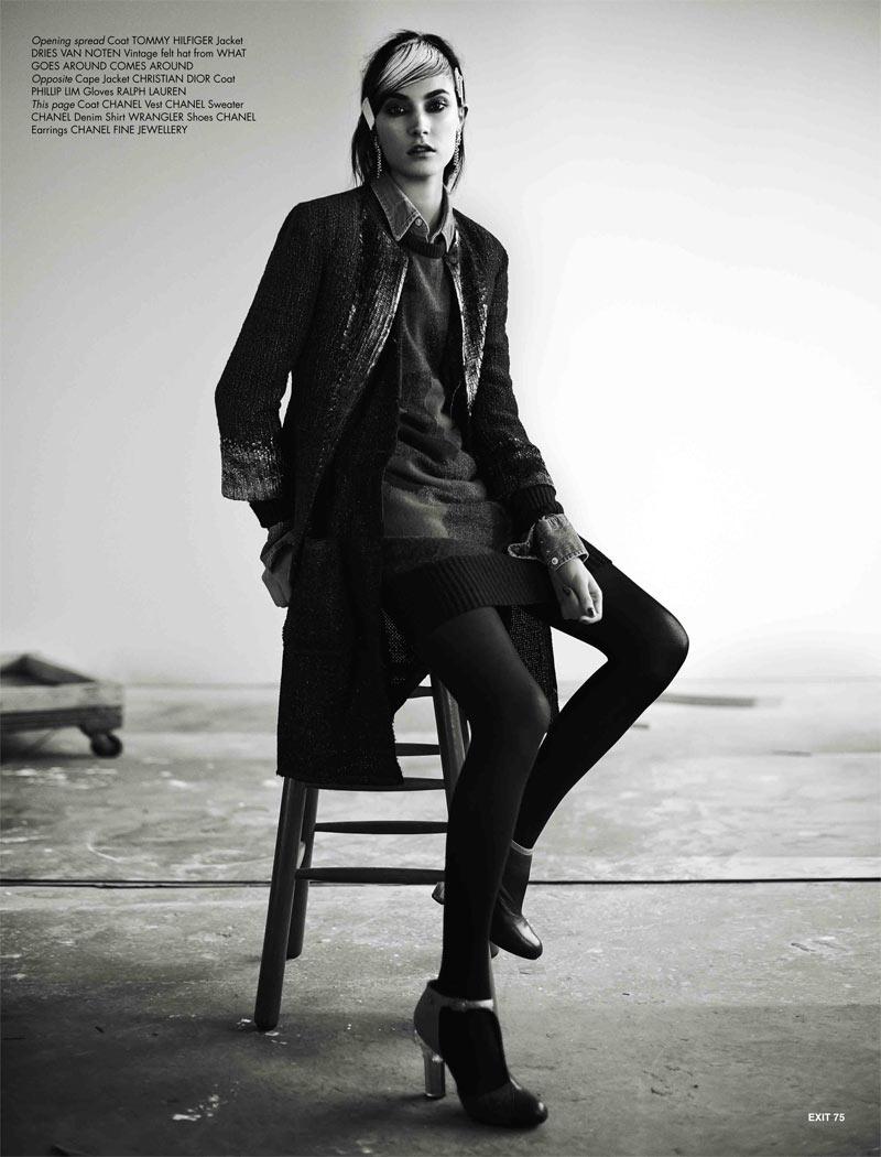 JacquelynExit3 Jacquelyn Jablonski Dons Sleek Style for Exit Magazine F/W 2012