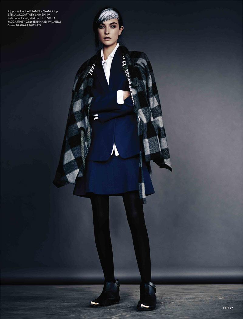 JacquelynExit5 Jacquelyn Jablonski Dons Sleek Style for Exit Magazine F/W 2012