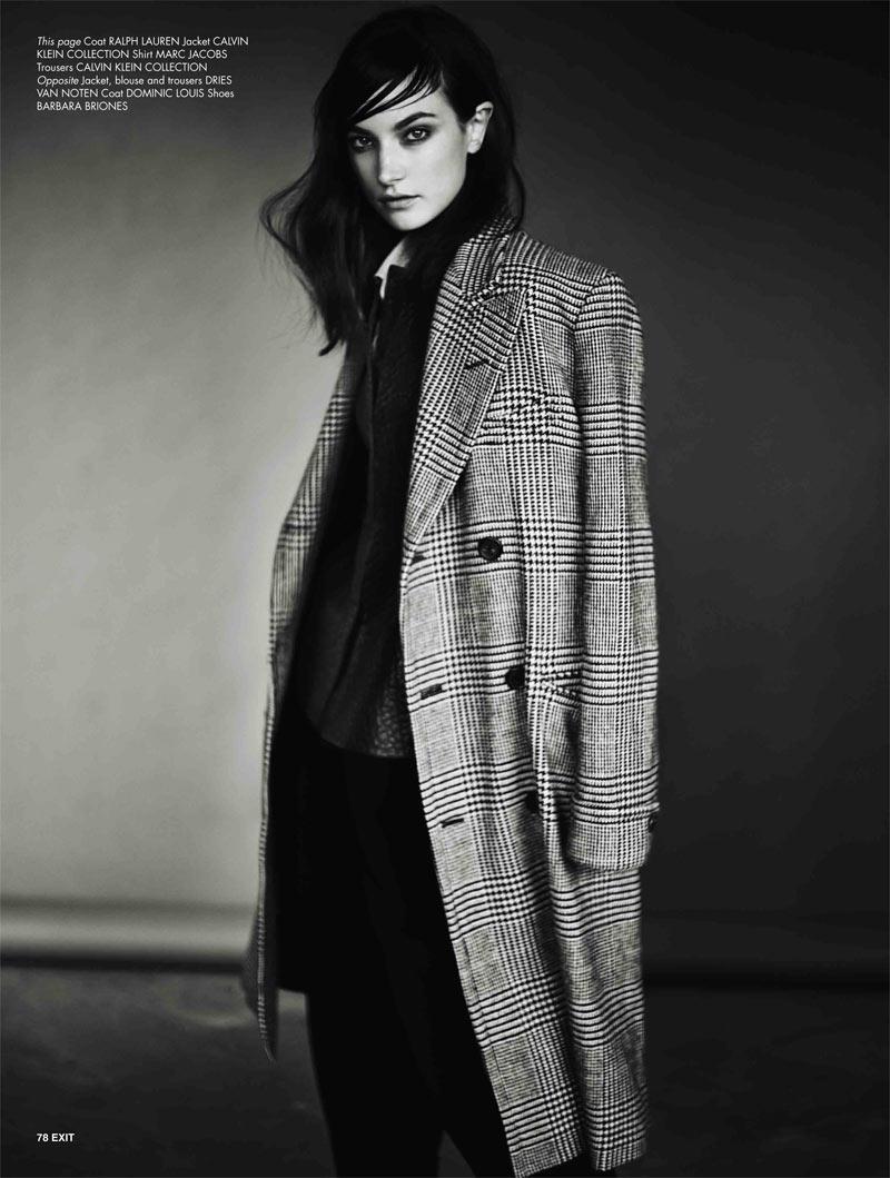 JacquelynExit6 Jacquelyn Jablonski Dons Sleek Style for Exit Magazine F/W 2012