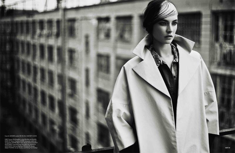 JacquelynExit8 Jacquelyn Jablonski Dons Sleek Style for Exit Magazine F/W 2012