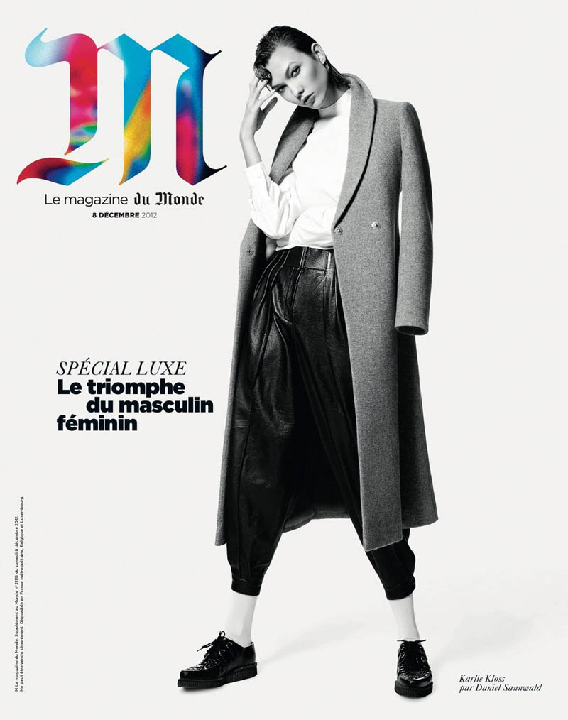 KarlieMonde14 Karlie Kloss Gets Androgynous for M le Mondes December Cover Story by Daniel Sannwald