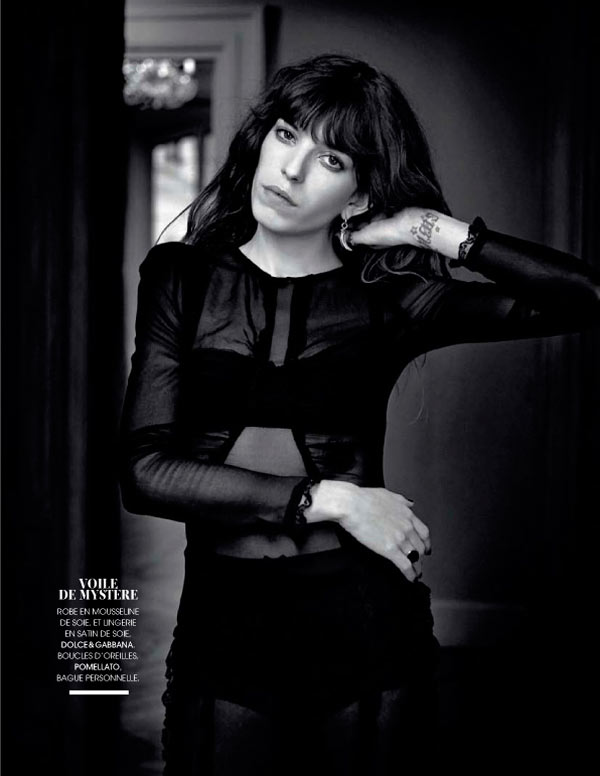 LOU FIGARO MADAME03 Lou Doillon Poses for Nicolas Guérin in Madame Figaro Shoot