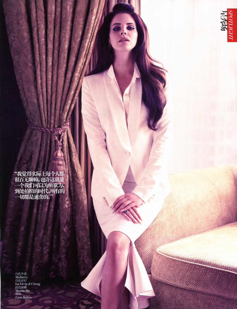 LanaChina4 Lana Del Rey Enchants for Vogue China January 2013 by Wee Khim