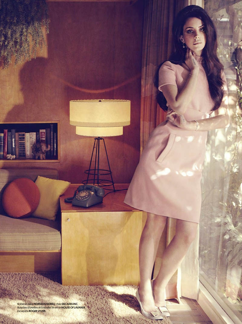 LanaObsession4 Lana Del Rey Dons Retro Chic for the Cover Story of Obsession Magazine #7