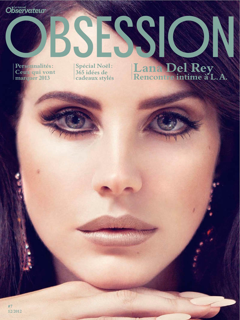 LanaObsession6 Lana Del Rey Dons Retro Chic for the Cover Story of Obsession Magazine #7