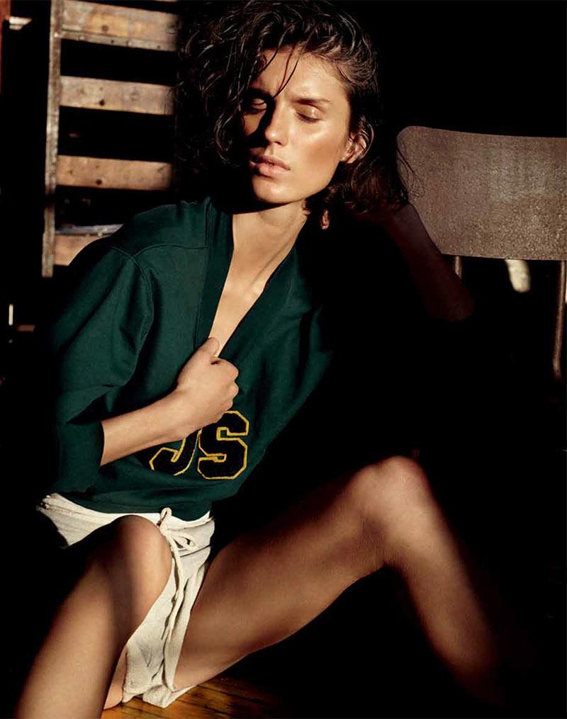 Marte Mei Van Haaster Evokes 'Flashdance' for Russh's December/January Cover Shoot