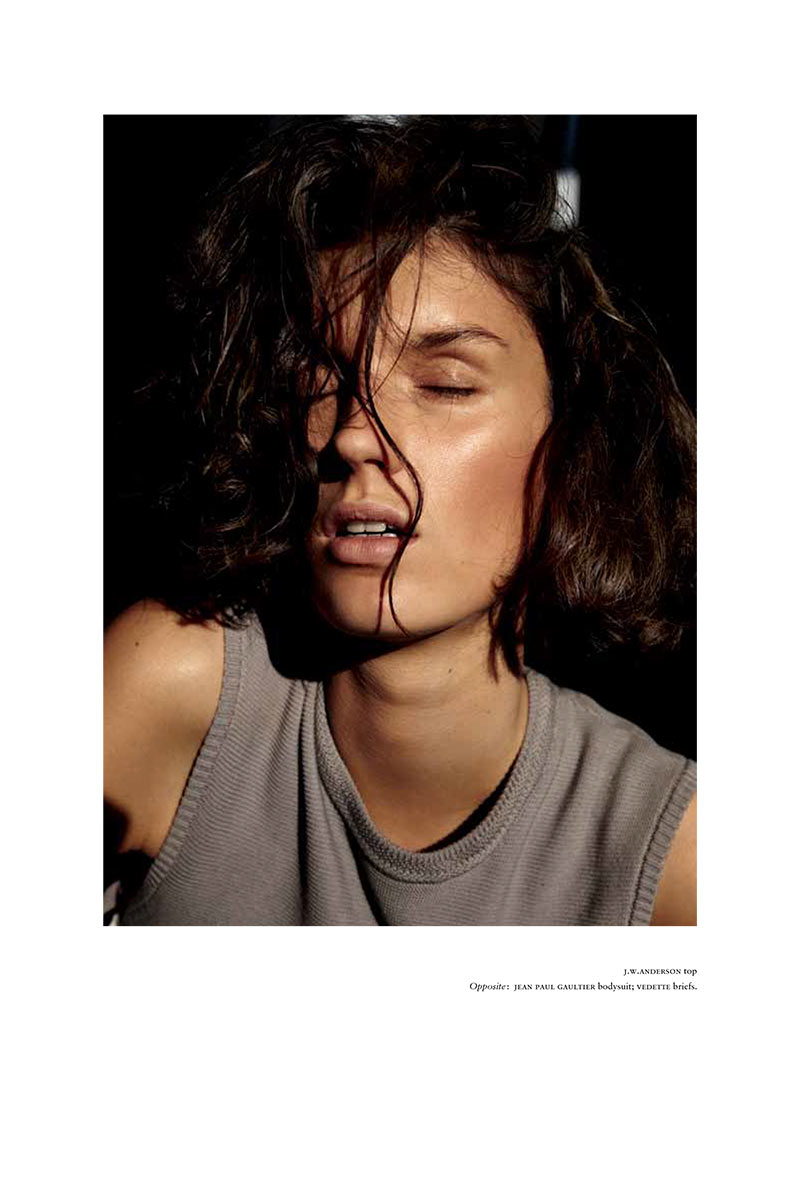 MarteRussh5 Marte Mei Van Haaster Evokes Flashdance for Russhs December/January Cover Shoot