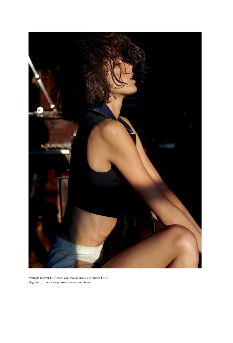 MarteRussh7 Marte Mei Van Haaster Evokes Flashdance for Russhs December/January Cover Shoot
