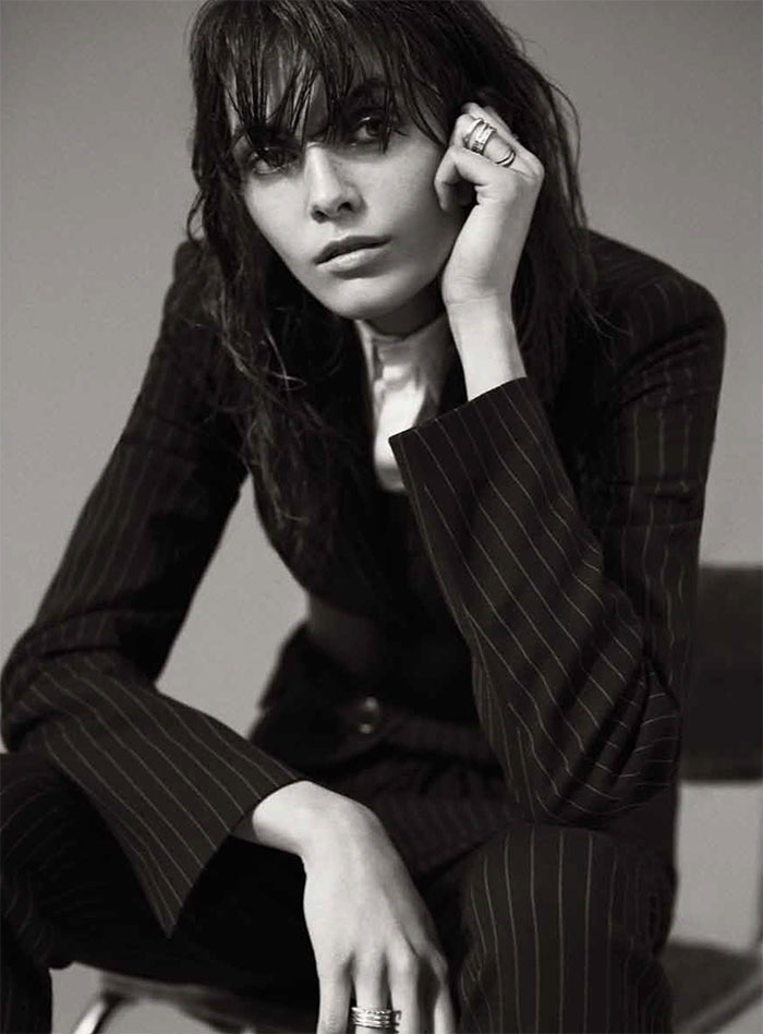 MelissaRussh12 Melissa Stasiuk Dons Menswear Inspired Style for Russh December/January